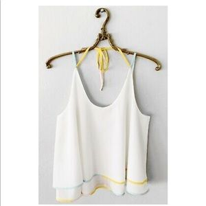 ANTHROPOLOGIE SATURDAY SUNDAY STRAPPY WHITE TOP